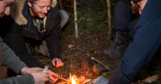 Winter Bushcraft & Survival Course group