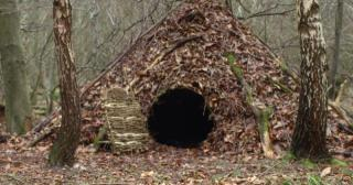 Winter shelter on our Bushcraft and Survival Course