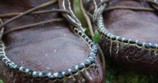 Secure and tight stitching on moccasin toe section
