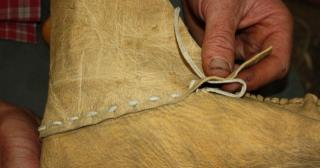 Moccasin stitches