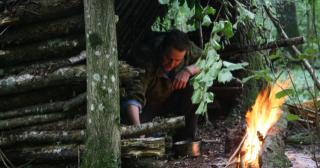 One man shelter on the Wilderness Awakening Course
