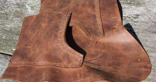 Leather boot construction