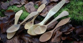Beautiful hand carved spoons