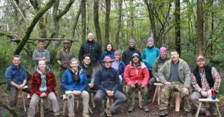 Wilderness Skills group with the stools from their course