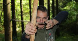 Hunter gatherer bow and arrow