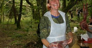 At work on out deer in a day course