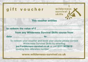 Wilderness Survival Skills Course Gift Voucher